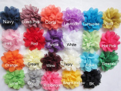 YYCRAFT Pack Of 30 Chiffon Flower 7.6cm Hair Flower Headband Bow-Mix