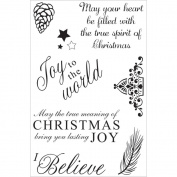 Ultimate Crafts Seasons Greetings I Believe Stamps 10cm x 15cm Christmas Stamps