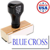 Acorn Sales - Large Blue Cross Rubber Stamp