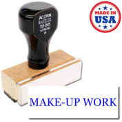 Acorn Sales - Make-Up Work Rubber Stamp