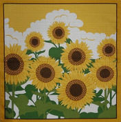 Furoshiki Wrapping Cloth Sunflowers Motif Japanese Fabric 50cm