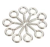 100 Pcs Silver Mini Tiny 125mm Eye Pins Eye Screw Hooks Eyelets Eye Bail Peg Threaded For Jewellery Making Craft Art