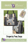 Mega Bow Tucks Quilted Bag Pattern by Penny Sturges