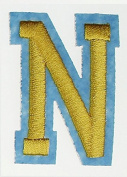 RECHERE 26 letter Alphabet Uppercase Embroidered Iron On Patch Applique