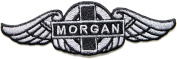 MORGAN Car Motor Logo Sign Patch Iron on Applique Embroidered T shirt Jacket Costume BY SURAPAN