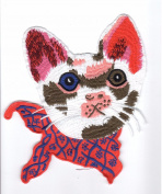 Embroidery Patch: Scarfed Cat