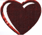 Sequin Patch: Large Red Heart
