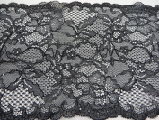 2 Yards 15cm Vintage Venise Floral Lace Trim Costume DIY Sewing Crafts black