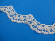 2 Yards 5cm Lace Trim Costume DIY Sewing Crafts Off White