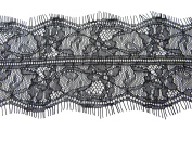 3 metres lace trim eyelash fabric vintage venise white 9.5cm wide
