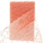 17cm Vintage French Wide Lace Ribbon Trim Peach 5yd