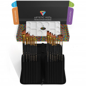 Artistic Vista - Paint Brushes | Complete 15 Piece set. Perfect for Acrylic, Watercolour, Gouache, Oil, & Face painting.