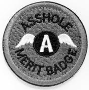 WZT Asshole Merit Badge Morale - Tactical Patch