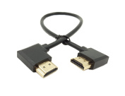 Gold Plated Right & Left Degree HDMI Male to HDMI Cable,SinLoon High Speed 90 Angle Right HDMI Male to Left HDMI Male Adapter Cable Supports Ethernet, 3D and Audio Return