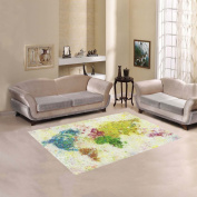 JC-Dress Area Rug Cover World Map Painting Modern Carpet Cover 1.5mx1.2m
