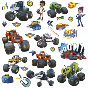 28 BLAZE AND THE MONSTER MACHINES WALL DECALS Trucks Stickers Boys Bedroom Decor U.S