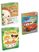LeapFrog Tag Junior 3 Pack Storybooks-Cars Shapes, David Smells, Our Birthday At The Zoo