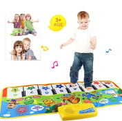 Morecome Touch Play Keyboard Musical Carpet Mat Baby Gift