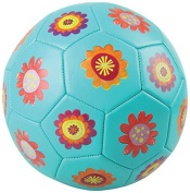 Crocodile Creek Kids Flowers Soccer Ball, Teal, 3/7 by Crocodile Creek