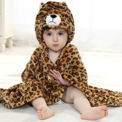 VSOAIR Boys & Girls Baby Bath Towel Sleepwear & Robes with Animal Hooded Ultra-soft Flannel, 0-7 Years Old