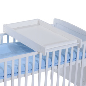 HOMCOM Wooden Cot Top Changer Baby Changing Station Infant Bed Infanette Nappy Change Tables Babies Furniture 87Lx50Wx10H(cm)