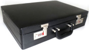 Quality Black Leather Effect PU Briefcase / Attache Case