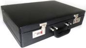 Quality Black Leather Effect PU Briefcase / Attache Case