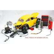 Die-cast Metal Car Garage Accessories 1:18 Scale by KinsFun