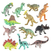 Educational Dinosaurs 12 pack by Boley - kids 18cm tall realistic toy dinosaur figures perfect for cool kids and toddler education!