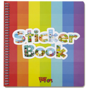 Sticker Farm Original Series Large (25cm x 27cm ) Reusable Sticker Album for Collecting, Boys and Girls - Large Starter Activity Album with 75+ Puffy Stickers to Start Collection