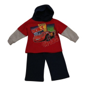 American Character Baby Boys Red Cars Hooded Top Fleece 2 Pc Pant Set 12-24M