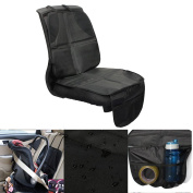 Child Car Seat Protector Mat Anti-slip Safety Cushion Cover with Organiser Storage Pocket