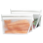 BlueAvocado Re-Zip Seal Reusable 1/2-Cup Snack and Lunch Bag, 2-Pack