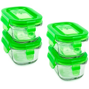 Wean Green Wean Tubs 150ml Baby Food Glass Containers - Pea