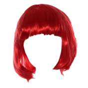 WINWINTOM Masquerade Small Roll Bang Short Straight Wig