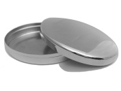 Baby's First Tooth Curl Box Silver Plated Oval 6x5,5x2 cm silver plated pill box