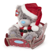 Me To You Tatty Teddy Bear Medium Plush Toy Teddy Wearing Father Christmas Santa Outfit in Sled [Special Edition]