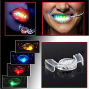 SwirlColor Pack of 2 LED Flash Light Mouthguard Party Glowing Teeth Toy Light Up Toy