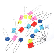 KLOUD City®20 pcs 57mm Random Colour Assorted Baby/ Kids Cloth Nappy Nappy Pins /Safety pins with Small Animal Pin Heard