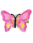 Butterfly Hair Clip Embroidered Bright Colour 5cm Forked Clip Hair Clamp