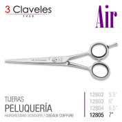 3 Claveles Reference Professional Hairdressing Scissors In Stainless Steel Forged Hot, Air, Measure X Series 18cm