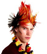 Brubaker Germany Fan Wig Mohawk Mohawk Wig In Germany Black Red Gold.