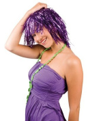 Purple Disco Glitter Tinsel Wig Wig Foil Stripe Wig For Fancy Dress Parties/Disco