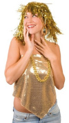 Disco Tinsel Wig Wig Foil Stripe Glitter Wig For Fancy Dress Parties/Disco Gold