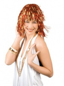 Lametta Tinsel Wig in Orange