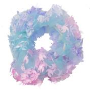 Mytoptrendz® Ladies Girls Chiffon Scrunchie Bright Pastel Chiffon Hair Scrunchies Hair Elastic Tie Ponytail Band