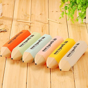 Katoot@ Novelty Pencil Shape Pencil case for girls Cute Candy colour Silicone Zipper pen bag Stationery pouch office school supplies