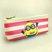 Katoot@ Cute Minion School pencil case for kids Kawaii Cat PU Leather Stationery Pouch Zipper Pen bag Office school supplies Escolar