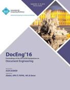 Doceng 16 ACM Symposium on Document Engineering