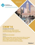 Cikm 16 ACM Conference on Information and Knowledge Management Vol 1